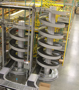 Ryson High Capacity Spirals operating in a west coast distribution center