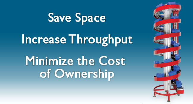 Save space. Increase Troughput. Minimize Cost of Ownership