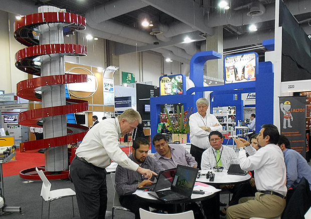 Ryson exhibits Vertical Spiral Conveyors at ExpoPack in Mexico