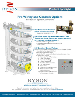 Ryson integrator and contols options for Spiral Conveyors