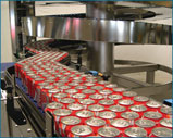 Soda Cans on Conveyor