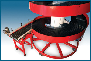 Multiple Entry and Exit Spiral Conveyor
