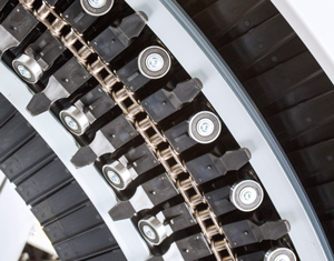Ryson Spiral Conveyor Chain Slat Arrangement